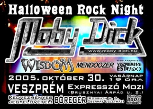 Moby Dick - Halloween Rock Night Veszprémben!
