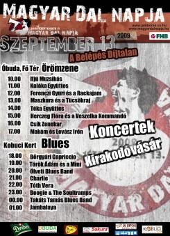 Magyar Dal Napja - Örömzene és Blues Óbudán - Magyar Dal napja 2009