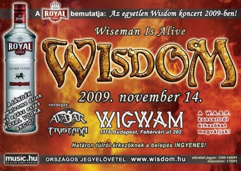 WISDOM - Netes belépő az egyetlen WISDOM koncertre!