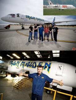 Iron Maiden - A KISS gépe eltörpül az Iron Maiden-é mellett