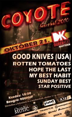 Coyote Fesztivál - A Good Knives is játszik a Coyote Fesztiválon!