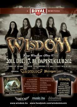 WISDOM - WISDOM: December 17-én elhozzák a Fényt a Club202-be!